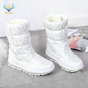 Image 1 - Белые сапоги для девочек, зимние сапоги маленькой принцессы, Красивые Зимние мини сапоги, размер 25 41, простые сапоги на липучке