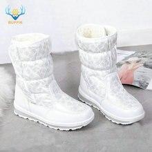 Kızlar beyaz bot ayakkabı küçük prenses kışlık botlar güzel görünümlü Mini kar botları boyutu 25 ila 41 cırt cırt kolay giyen çizmeler