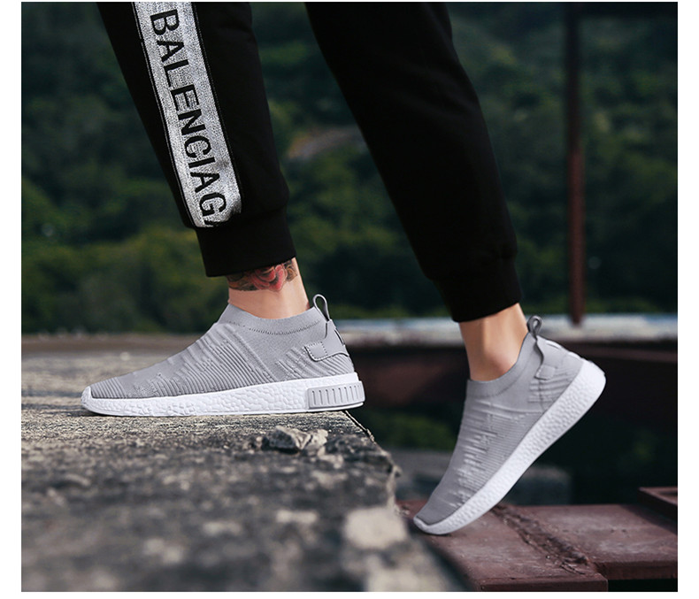 HTB1y.k iJcnBKNjSZR0q6AFqFXa9 Thin Shoes For Summer White Shoes Men Sneakers Teen Shoes Without Lace Trend 2019 New Feel Socks Shoes tenis masculino chaussure