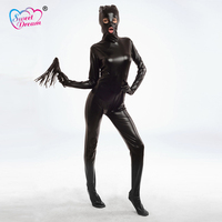 Sweet Dream Sex Products Adult PU Leather Sexy Bondage Bare Eyes And Mouth Body Flirt BDSM Bondage Sex Toys For Couples DW-215