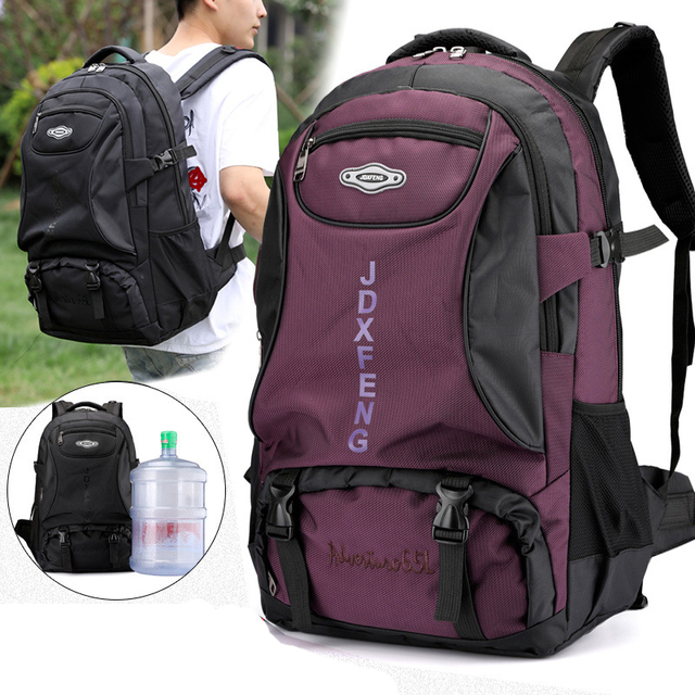 60L unisex men waterproof backpack travel pack sports bag pack Outdoor Mountaineering Hiking Climbing Camping backpack for male 1