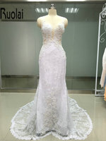 2017 sexy tulle wedding gown lace appliques beading sleeveless scoop court train sheath wedding gown sheer.jpg 200x200