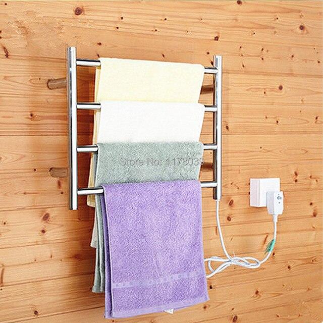 El ctrico de acero inoxidable toallero el ctrico for Calentador de toallas electrico