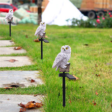 2PCS Owl Solar LED Garden Lights Lawn Lamp  Solar-Powered Night Lights