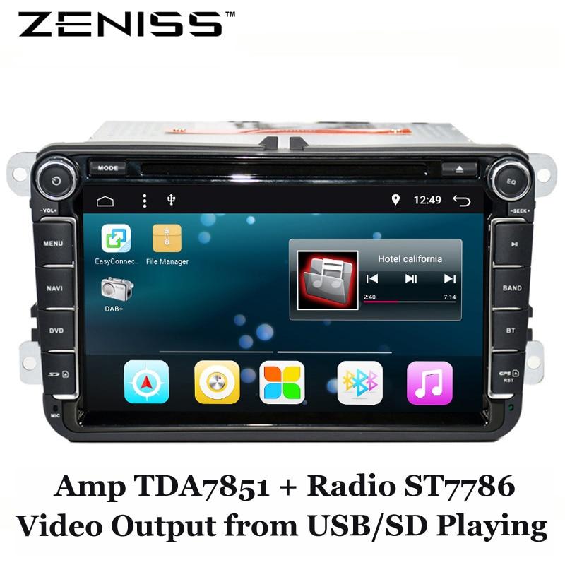 imágenes para FreeShipping Android 6.0 DVD Del Coche para VW GOLF CAR DVD para PASSAT B6 B5 POLO JETTA CC TIGUAN OCTAVIA COCHE DVD ANDROID 6.0 GPS 801