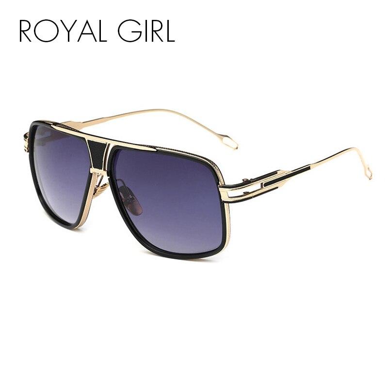 de87ca6ca2bfd MENINA REAL Dos Homens Da Forma Do Vintage Oversize óculos UV400 Goggle  óculos de Sol dos homens de Design Da Marca Estilo Verão Masculino Oculos  ss774