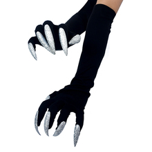 Glove Claw Fingernail Costume-Accessories Cuffs Punk Acrylic Halloween Long New Cosplay-Props