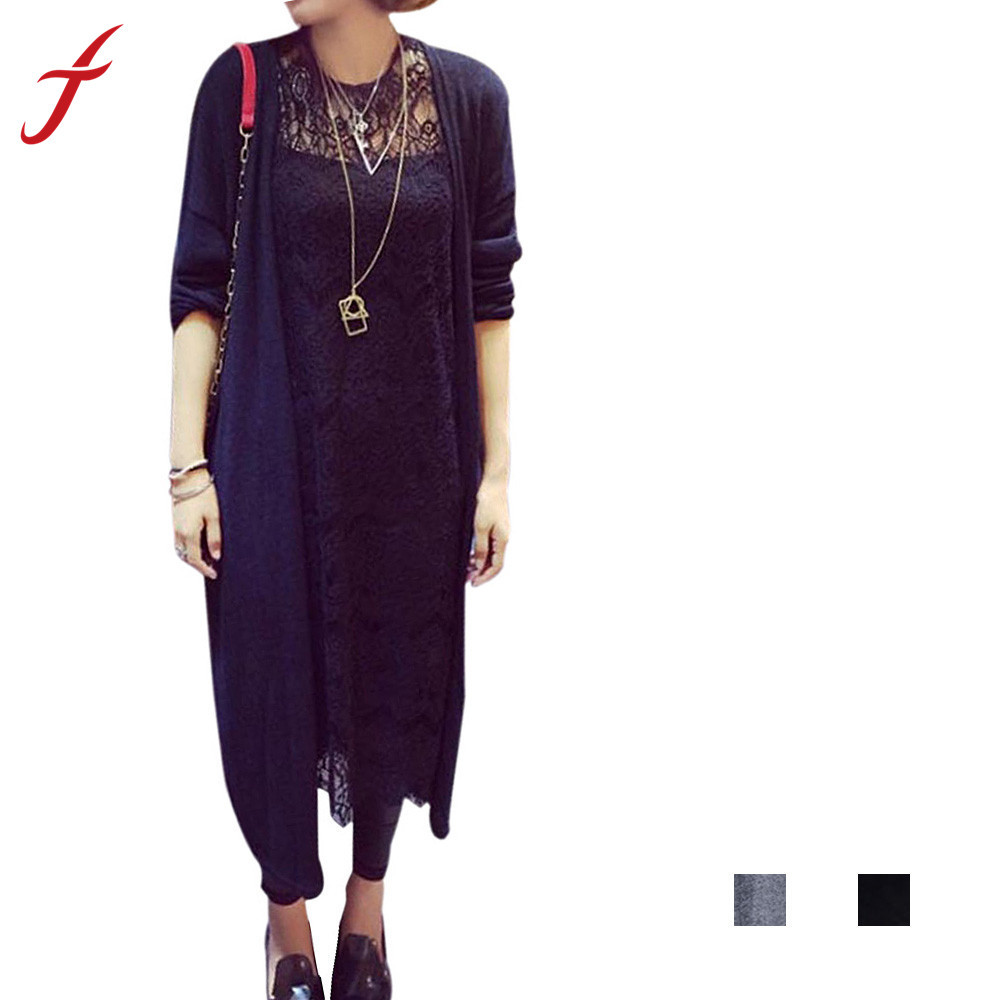 Buy Feitong Autumn Korean Style Women Knitted Cardigans Fashion Casual Crochet