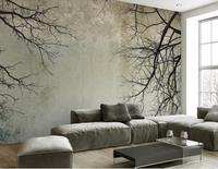 Customize 3d Wallpaper Walls Scandinavian Style Branch Sky Papel De Parede Do Desktop Mural Wallpaper 3d