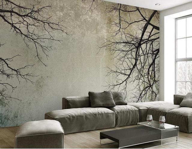 Anpassen Wallpaper Wände Skandinavischen Stil Zweig Himmel Papel De Parede Tun Desktop Wandbild Tapete
