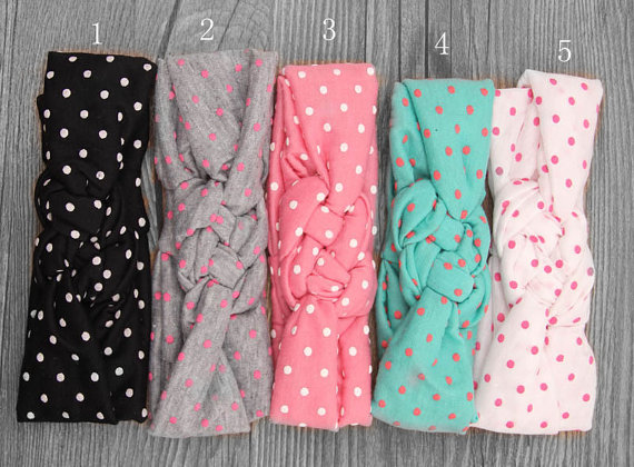 Baby Headband Dot Bow Headband Top Knot Headband Polka Dot Cross Knot Baby Turban Tie Knot Headwrap Hair Accessories