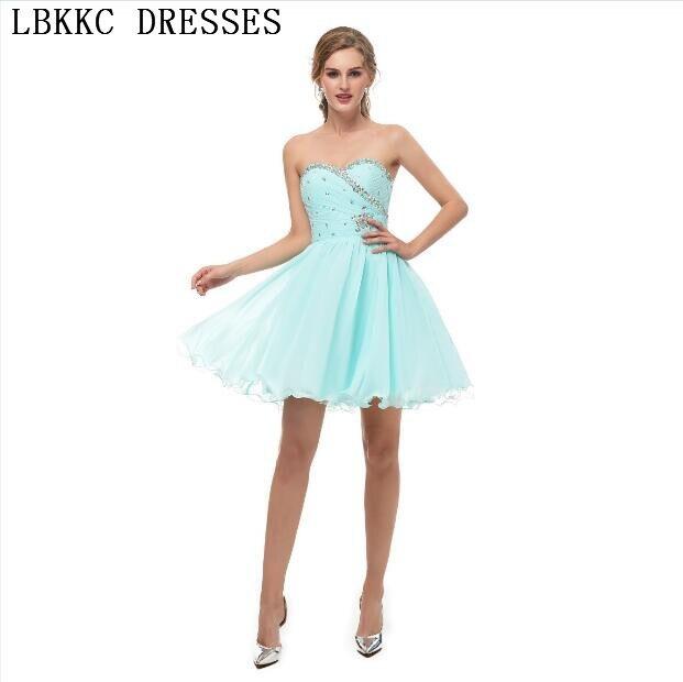 e93b4f152 Vestidos Cortos De Fiesta Mint Green Chiffon Homecoming Dresses A Line  Short Sleeveless Vestidos Cortos Graduation Dresses