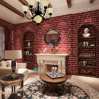 Imitation Pattern Wallpaper Wallpaper Hotel 3D Three Dimensional Culture Stone Non Woven Wallpaper