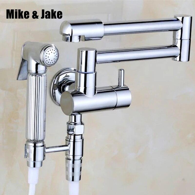 Bathroom bidet shower mixer wall mounted bidet mixer faucet mop tap with shattaf set garden tap