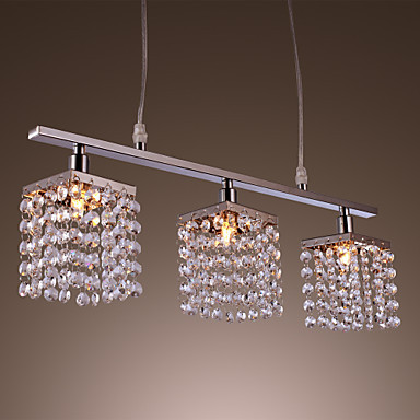 25W G9 Fashionable LED Modern Crystal Pendant Lamp with 3 lights Fixtures Hanging Light Lamparas Lustres e Pendentes