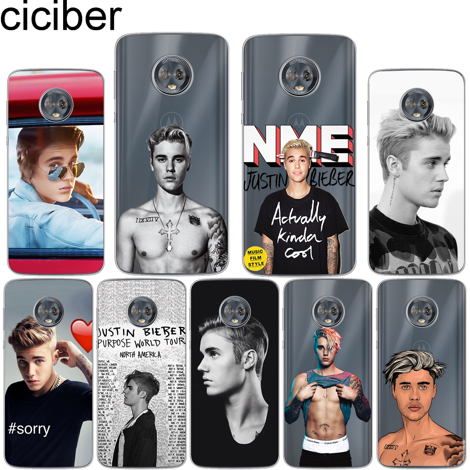 Fitted Cases Silicone Case Phone Cover For Motorola Moto G6 G5 G5s Z2 Z3 Play Plus X4 E4 E5 C Justin Bieber Purpose Tour