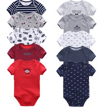 5PCS/LOT Baby Rompers 2018 Short Sleeve 100%Cotton overalls Newborn clothes Roupas de bebe boys girls jumpsuit&clothing(China)