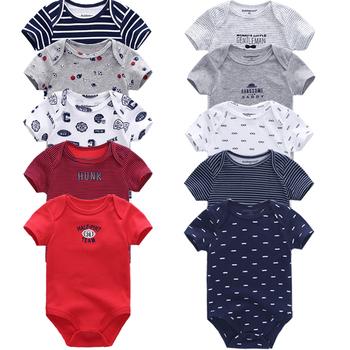d12c50631aff8 5PCS/LOT Baby Rompers 2018 Short Sleeve 100%Cotton overalls Newborn clothes  Roupas de