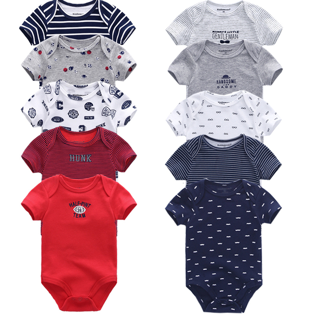 5344745725f 5PCS LOT Baby Rompers 2018 Short Sleeve 100%Cotton overalls Newborn clothes  Roupas de bebe boys girls jumpsuit clothing