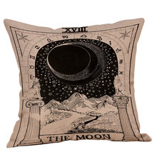 Tarot Sun Star Moon Bantal Cover Hippie Dekorasi 100% Sprei Sarung Bantal Sofa Bantal Kursi Mobil Rumah Bantal Case(China)