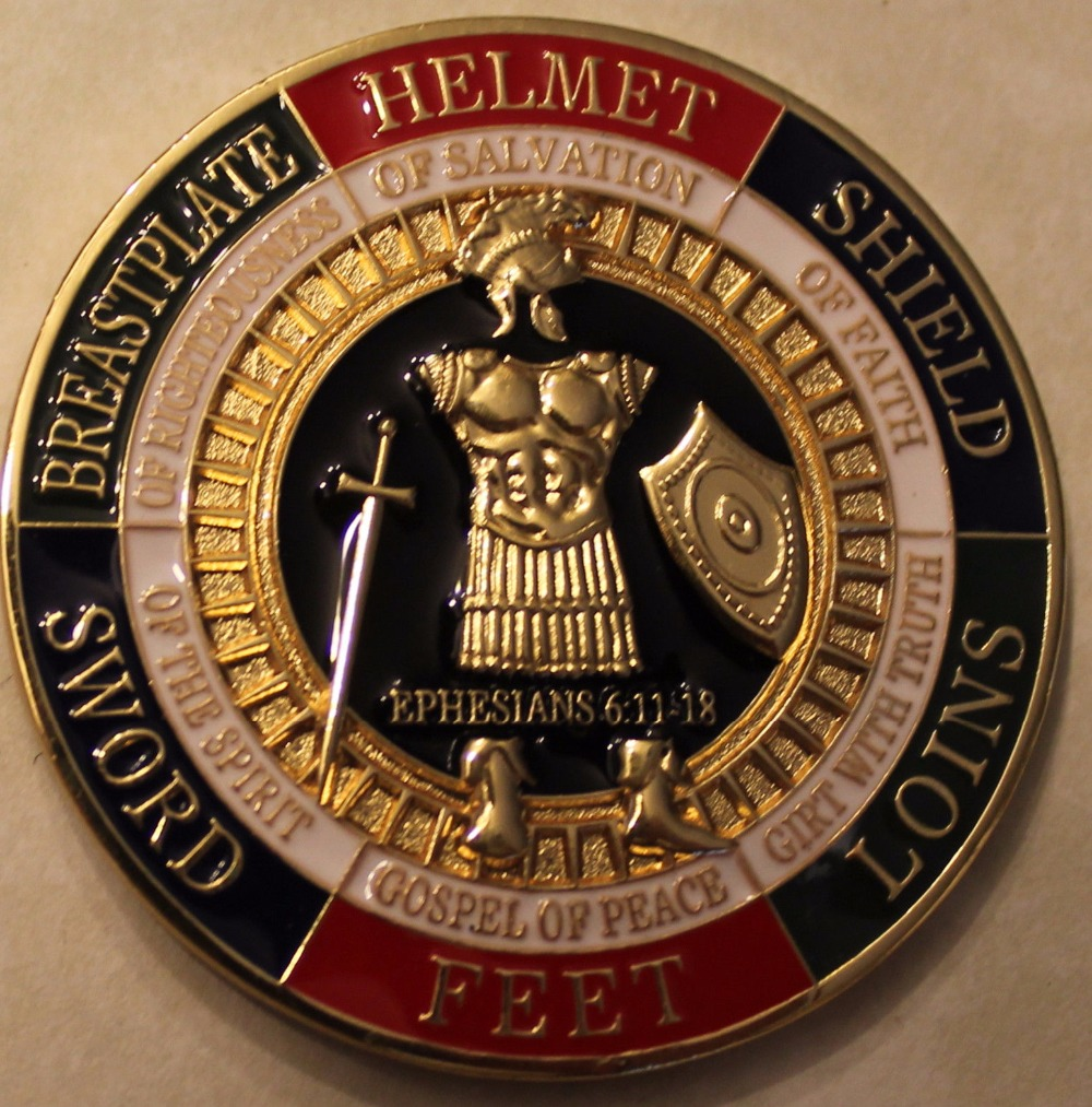 The wholesale price Armor of God Pray Always Military Challenge Coin 50pcs lot Free shipping