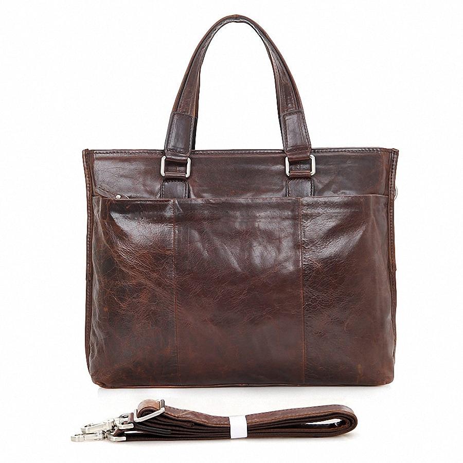 Genuine Leather Men Bags Business Laptop Tote Bag Briefcase Men Cross body Handbag Shoulder Messenger Men's Travel Bags LI-1545