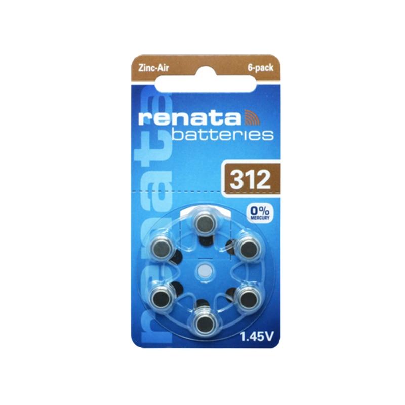 6 шт./упак. RENATA цинк Air Батареи Размеры <font><b>312</b></font> p312 <font><b>pr41</b></font> слуховой аппарат Батарея