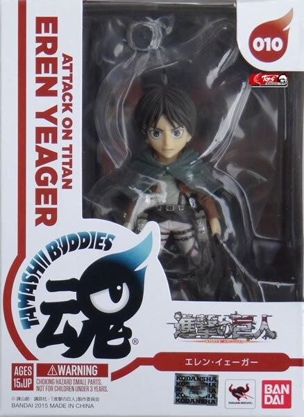 Bandai Attack On Titan Tamashii Buddies Eren Yeager Figure NEW Toys Collect