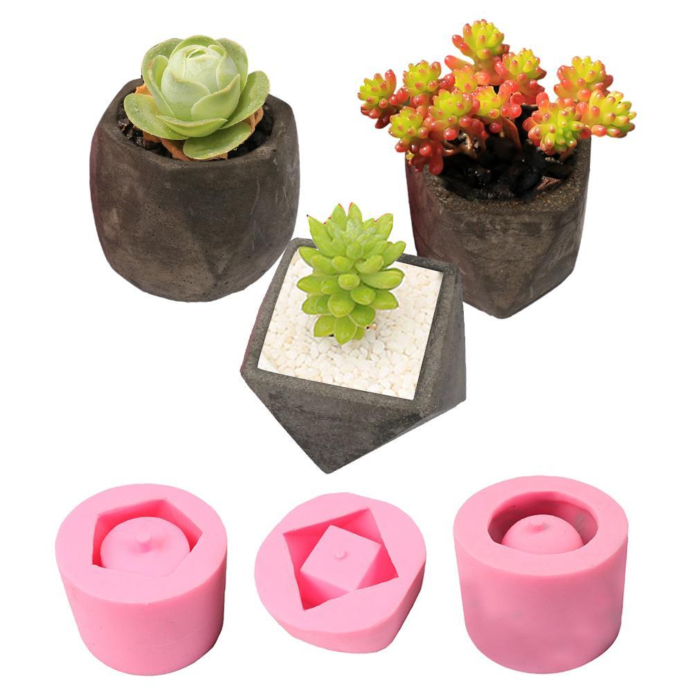 DIY Charnue Pot de Fleurs Silicone Mold Accueil Jardinage Décoration Artisanat Plante Succulente Béton Béton Pot Vase Moule