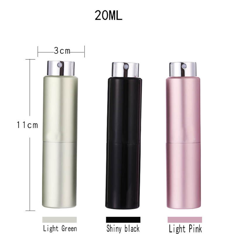 Image 4 - New 8ML 10ML 15ML 20ML Portable Mini Aluminum Refillable Spray Perfume Bottle Empty Cosmetic Containers Atomizer For Traveler-in Refillable Bottles from Beauty & Health