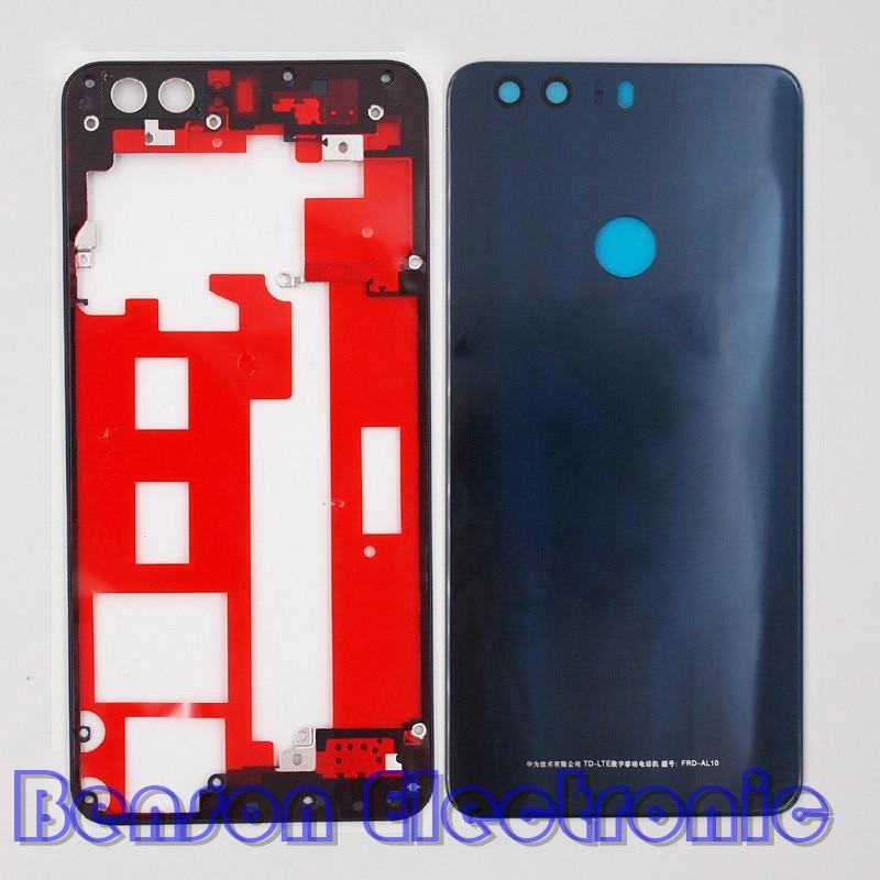 bilder für BaanSam Neue Mittleren Rahmen Middle Halter Batterie Rückseitige Abdeckung Für Huawei Ehre 8 Gehäuse Mit 3 Mt Klebstoff