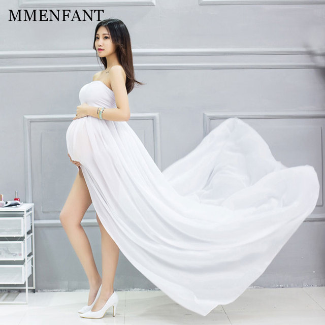 f6207bd5a6c0 2017 summer sleeveless maternity clothes white dress pregnant photography  Props maternity dresses for photo shoots vestidos