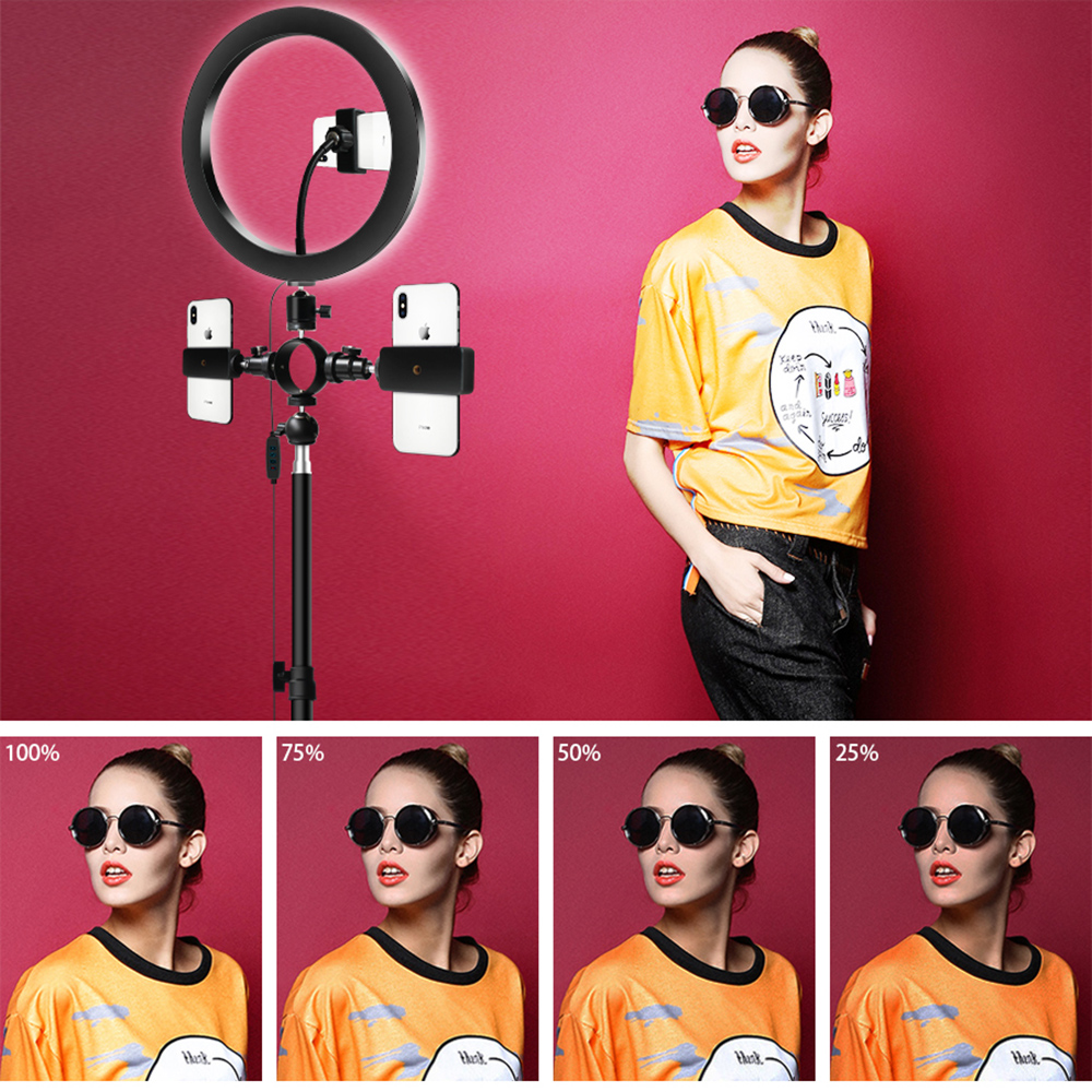 Dimmable LED Selfie Ring Light USB 3600ml Studio Photography Photo Fill Ring Light With Tripod For Makeup Live Streaming Video