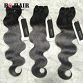 BQ HAIR Remy 8A Malaysia Human Hair Body 3 Bundles Wave Ombre Dark Grey and Green Ombre Weave Cheap Hair Bundles