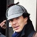 High Quality Cosplay Cap Detective Sherlock Holmes Deerstalker Hat Gray Cups New Berets Cap Vestidos