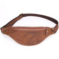Genuine Leather Fanny Waist Bag Men Belt Bum Leg Hip Packs for Men Mini Multi Phone Box Wallet and Purse Outdoor Coin Card Pouch