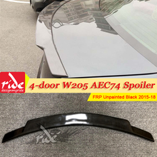 Fits For MercedesMB W205 Tail Spoiler Wing FRP Unpainted C74 Style C-Class 4-doors C180 C200 C63 trunk spoiler wing 2015-18