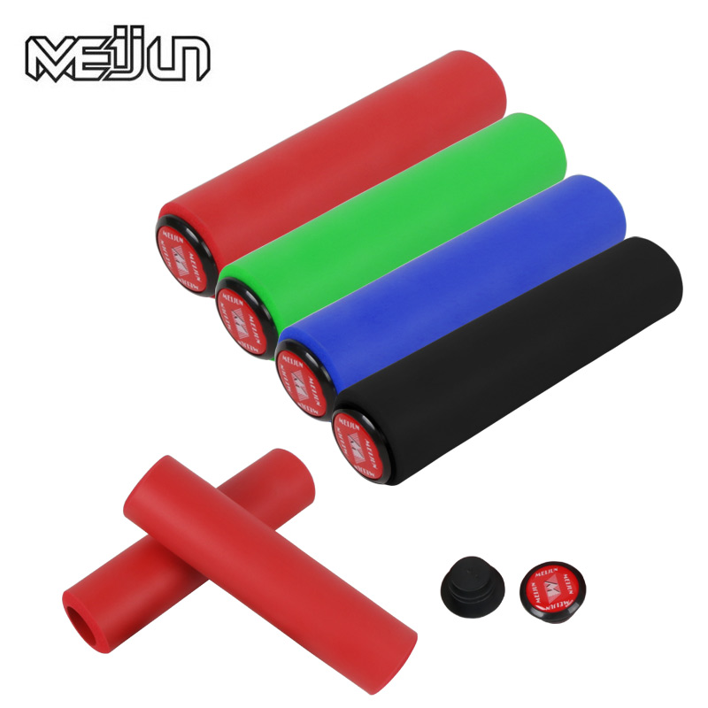 MEIJUN Նոր ապրանքներ UltraLight Silicone Material Handlebar Girps High խտություն MTB Bicycle Handlebar Anti-slip Cycling Grip
