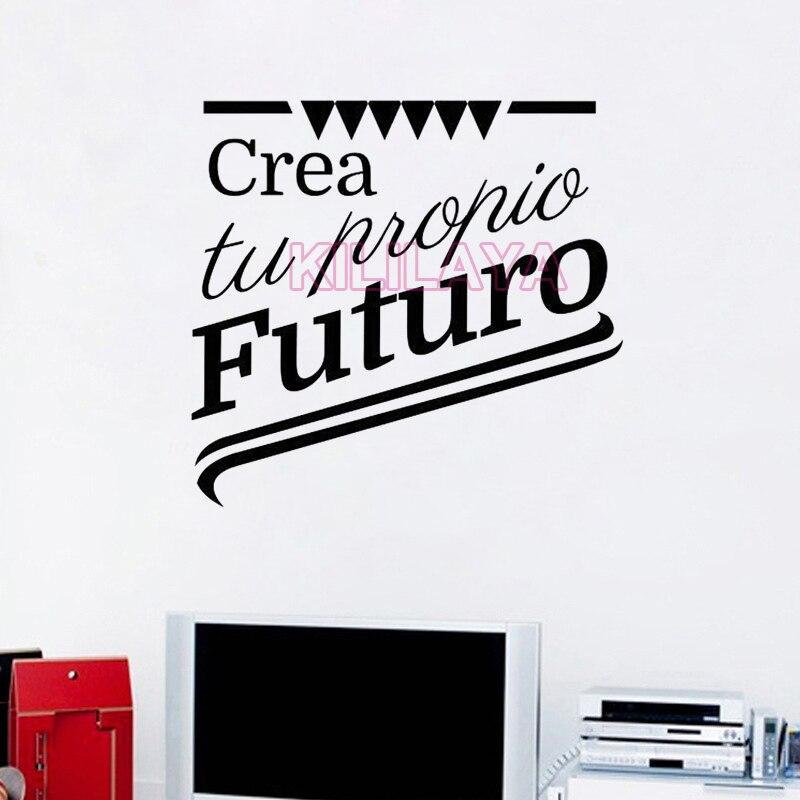 Stickers Spanish Quotes Crea Tu Propio Futuro Vinyl Wall Sticker