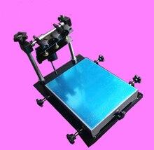 Precio barato manual de cama plana máquina de impresión de pantalla de seda, impresora de la pantalla de seda, precio de la máquina de impresión de pantalla de seda