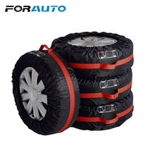 FORAUTO 4Pcs/Set Wheel Protector Car Spare Tyre Cover Tire Protector Waterproof Tire Storage Bag Car-Styling S L Size Universal