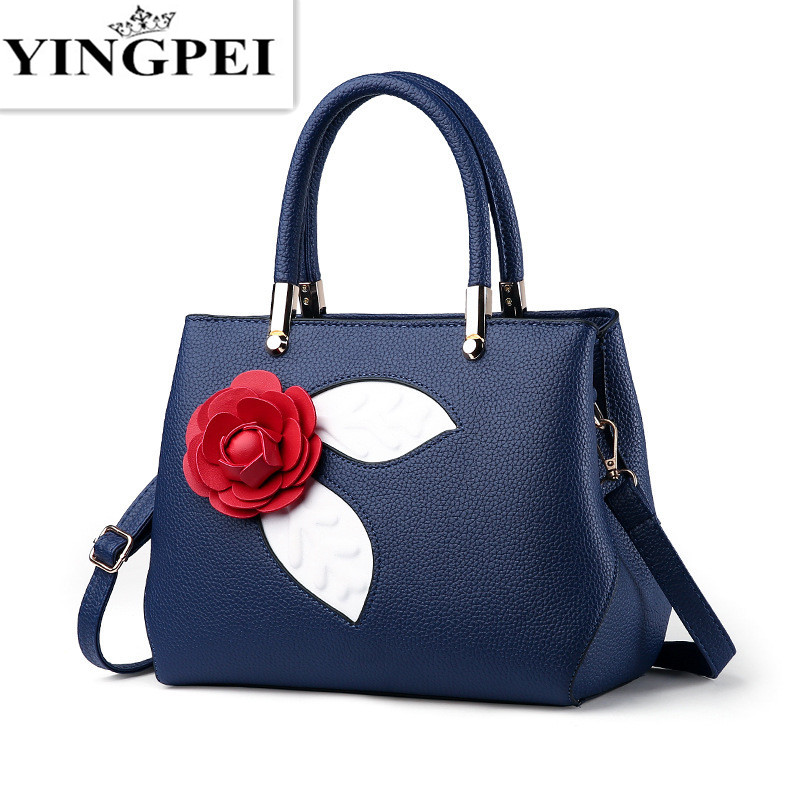 4d97c5ee01d YINGPEI women bags handbags High quality PU leather shoulder bag Fashion  Top-Handle Women Creative personality Flowers handbag