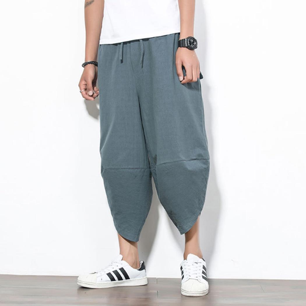 Baggy Trousers Pants Lantern Jogger Punk-Style Streetwear Men Male Mens Fashion 4XL Low-Rise