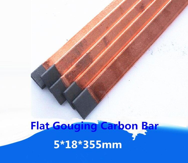 5*18*355mm Kupfer-verkleidet flache schweißen carbon stick elektroden/Strahlen Fugenhobeln Stangen schweißen elektroden freies verschiffen 8 stücke