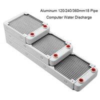 White 120 240 360mm Aluminium Water Discharge Liquid Heat Exchanger For Computer Case Water Cooling Thread