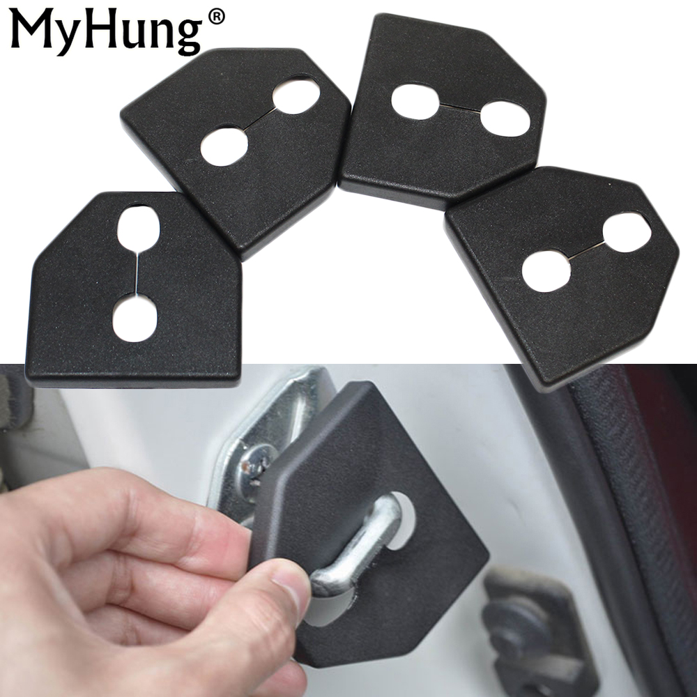 Car Door Lock Cover Protective Cover Fit For Subaru Forester OUTBACK Impreza Legacy XV Plastic 4pcs Per Set