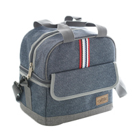 Denim Large Shoulder Ice Cooler Bags Insulated Pack Drink Food Thermal Leisure Women S Kid S