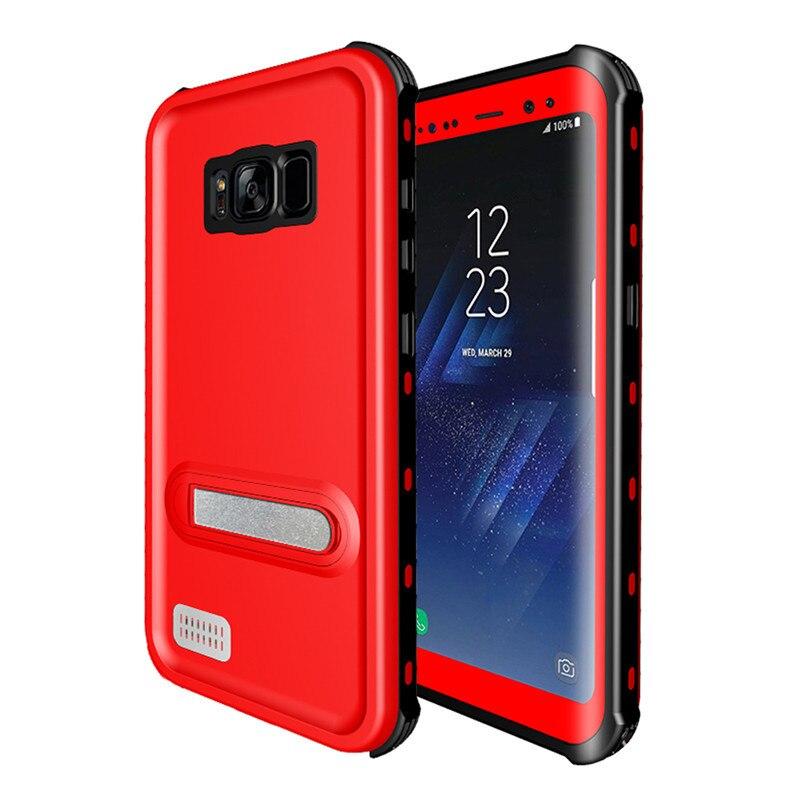 imágenes para Para Samsung Galaxy Funda Impermeable para Samsung S8 S8 Más Pata de Cabra Delgada Armadura de la Cubierta de Protección Completa para Samsung Galaxy S8Plus
