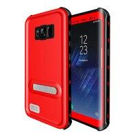 Per Samsung Galaxy S8 Custodia Impermeabile per Samsung S8 Più Cavalletto Completa Protezione Slim Armatura Copertura per Samsung Galaxy S8Plus
