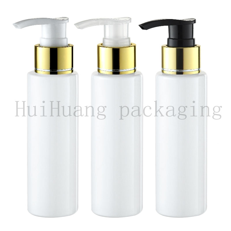 30pcs 100ml Empty white Lotion gold Pump Bottles Screw Dispenser For Cosmetic Packaging Lotion Cream Pump